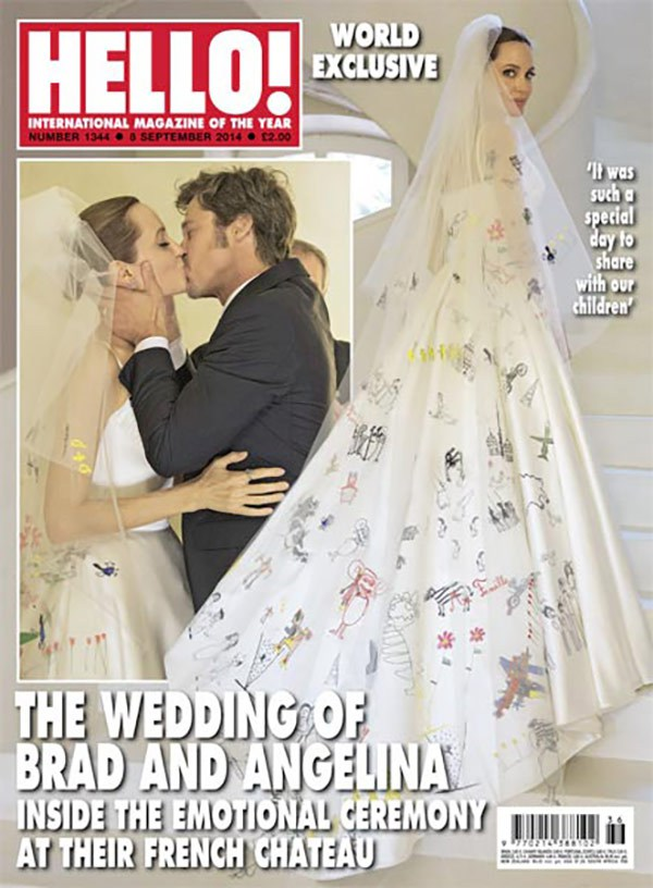 angelina jolie brad pitt wedding 2 Brad Pitt and Angelina Jolie Wedding Photos Finally Revealed