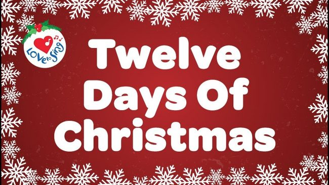What are the 12 days of Christmas 650x366 What are the 12 days of Christmas? (and the list & gifts)